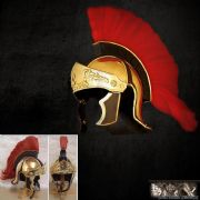 Greco-Roman Red Crested Helmet